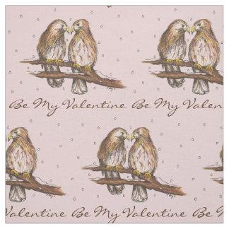 Seja meu tecido do pássaro do falcão do Lovebird