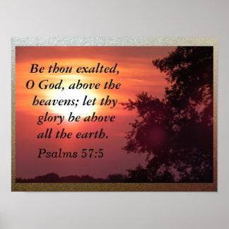 Seja mil exaltado, deus de O Poster