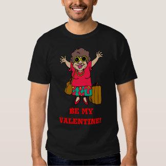 Seja minha senhora dos namorados com bagagem t-shirt