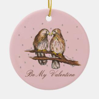 Seja o ornamento dos meus namorados do pássaro do