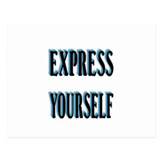 Seja original e expresso você mesmo cartão postal