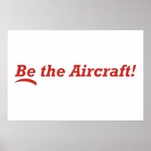 Seja os aviões! posteres