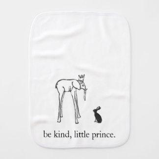 Seja pano amável, pequeno do burp do príncipe paninhos para bebês