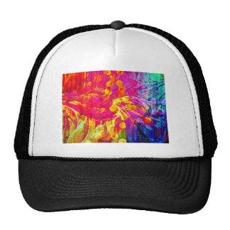 Seja pintura floral do abstrato corajoso, colorido boné
