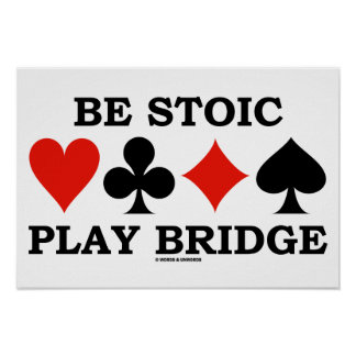 Seja ponte estóico do jogo (quatro ternos do poster
