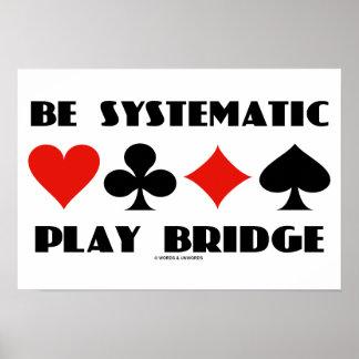 Seja ponte sistemática do jogo (quatro ternos do poster