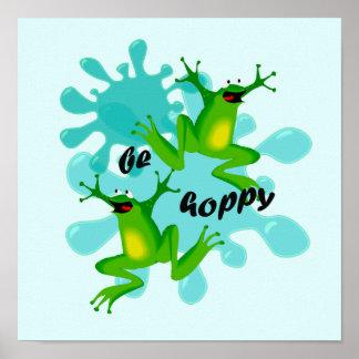 Seja poster inspirado dos miúdos engraçados Hoppy