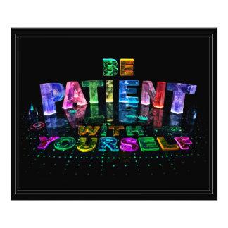 Seja poster inspirado paciente foto