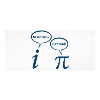Seja racional obtêm a matemática imaginária real 10.16 x 22.86cm panfleto