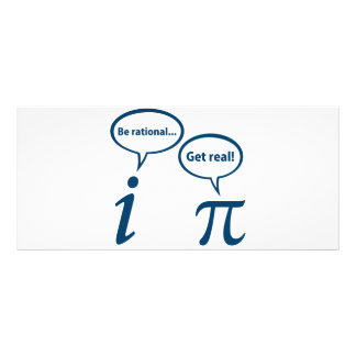 Seja racional obtêm a matemática imaginária real P 10.16 X 22.86cm Panfleto