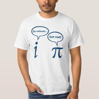 Seja racional obtêm a matemática imaginária real tshirt
