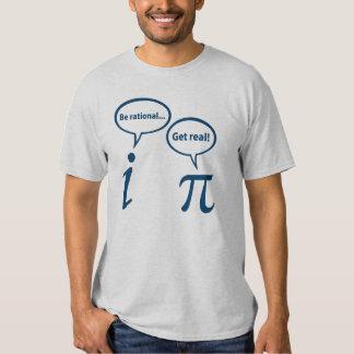 Seja racional obtêm a matemática imaginária real tshirts