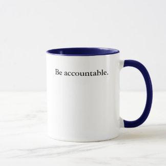 Seja responsável caneca