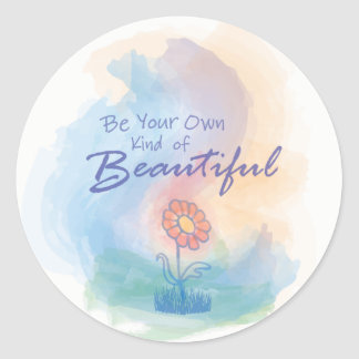 Seja seu próprio tipo de bonito - etiqueta