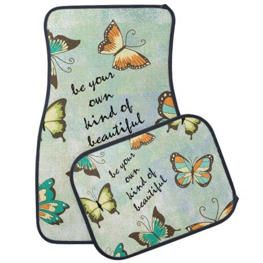 Seja suas próprias borboletas bonitas tapete de carro