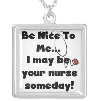 Seja t-shirt e presentes agradáveis da enfermeira colar
