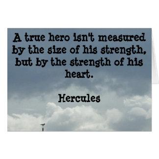 Seja um cartão do herói