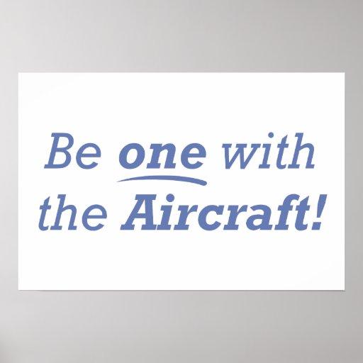 Seja um com os aviões! poster