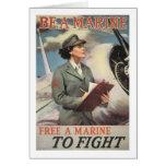 Seja um fuzileiro naval - livre um fuzileiro naval cartao