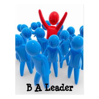 Seja um líder cartão postal