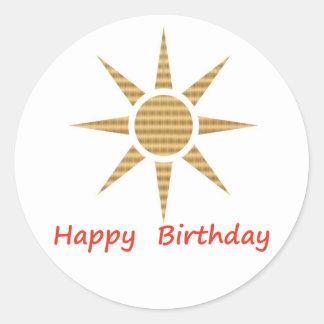 Seja um líder - seja diferente:  Feliz aniversario Adesivo