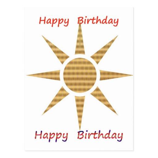 Seja um líder - seja diferente:  Feliz aniversario Cartões Postais