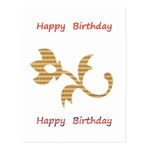 Seja um líder - seja diferente:  Feliz aniversario Cartao Postal