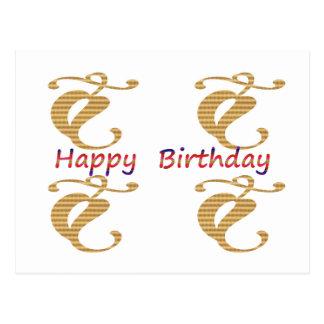 Seja um líder - seja diferente:  Feliz aniversario Cartão Postal