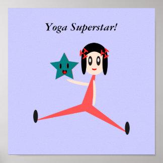 Seja uma estrela mundial da ioga pôster
