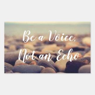 Seja uma voz, não uma etiqueta do eco