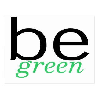 Seja verde cartão postal