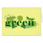 Seja verde cartões