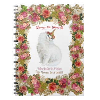 Seja você mesmo caderno do gato do unicórnio