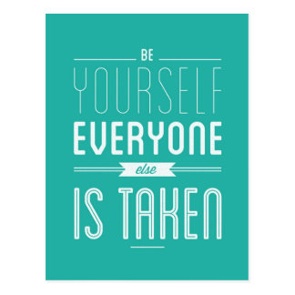 Seja você mesmo cartão inspirado das citações