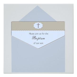 Selado com um azul da bênção - convite religioso