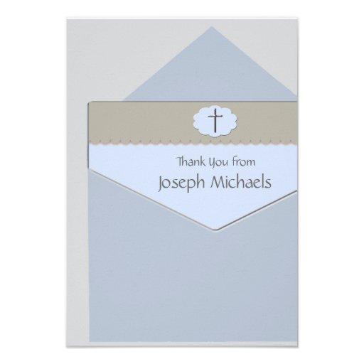 Selado com uns cartões de agradecimentos religioso convite