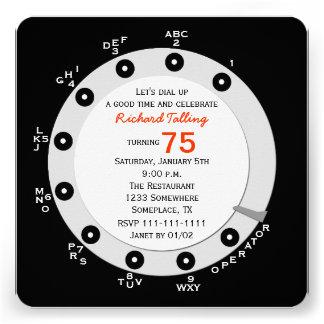 Seletor giratório do 75th convite de aniversário r