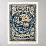 Selo 1920 arménio do Natal dos refugiados Poster