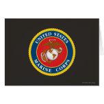 Selo 1 do Corpo do Marines Cartao