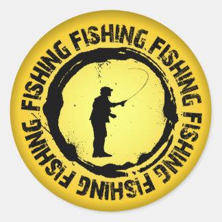 Selo agradável da pesca adesivo