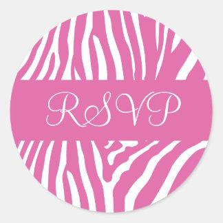 Selo cor-de-rosa e branco da etiqueta do envelope adesivo
