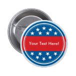 Selo customizável da bandeira dos EUA - azul Pins
