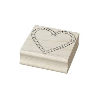 Selo da arte da ilustração do coração dos amantes carimbo de borracha