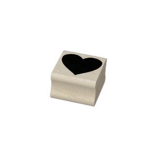 selo da arte da silhueta do coração carimbo de borracha