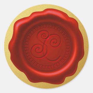 Selo da cera do papai noel com etiqueta do ouro do