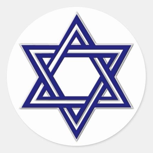 Selo da estrela de David do KRW Adesivo Em Formato Redondo