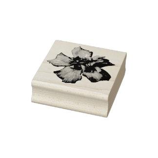 Selo da foto da flor carimbo de borracha