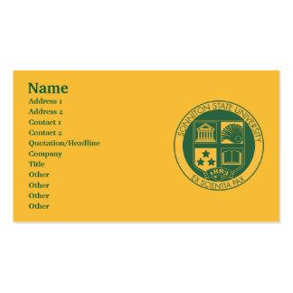Selo da universidade estadual de Sonniton - cor Modelos Cartões De Visitas