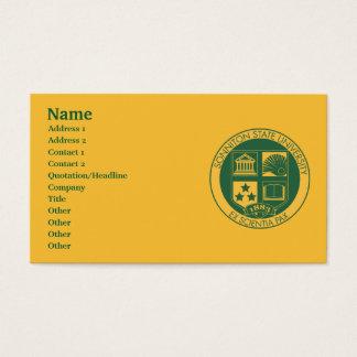 Selo da universidade estadual de Sonniton - cor Cartão De Visitas