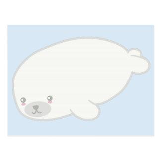 Selo de bebê bonito cartão postal